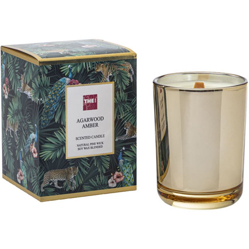 Picture of AGARWOOD AMBER candle gold
