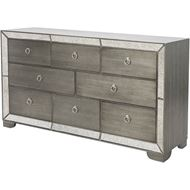 MENA chest 8 drawers clear/silver