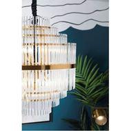 NENO 60 chandelier d60cm clear/brass