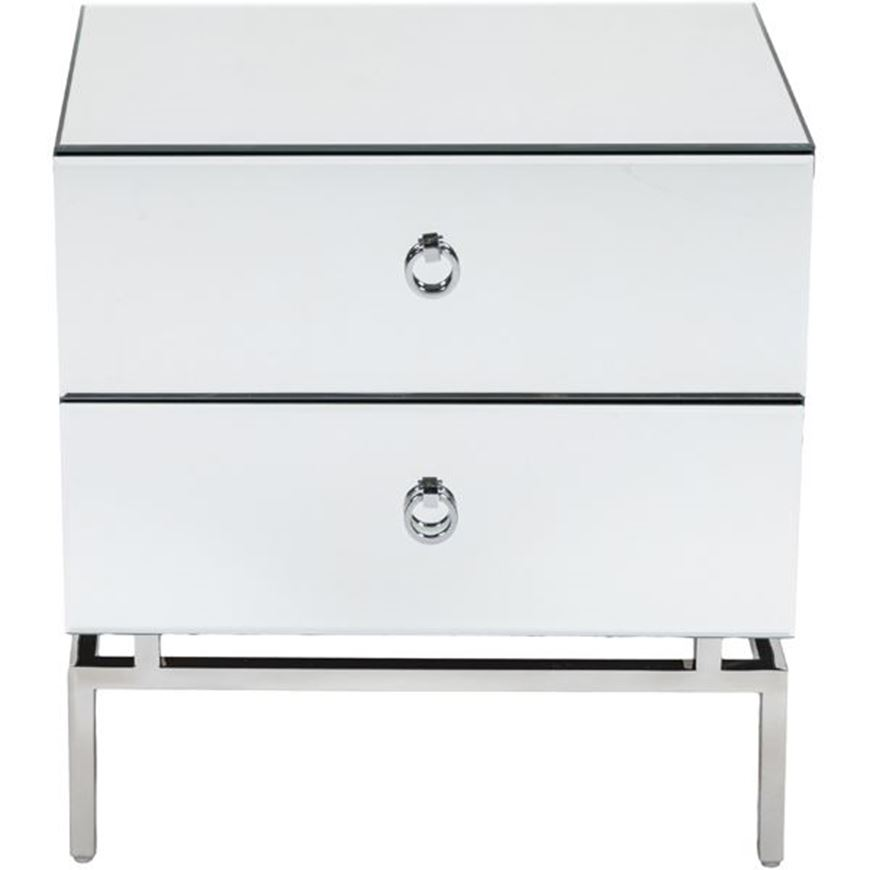 BLOOM bedside table clear/silver
