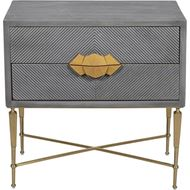 TOTO bedside table grey/gold