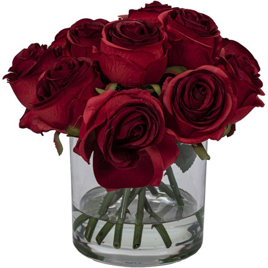 Picture of ROSE arrangement h27cm red