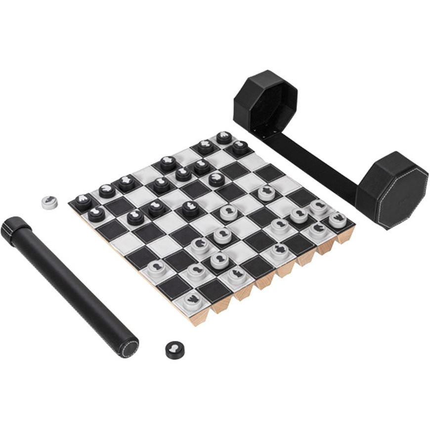 Picture of ROLZ chess & checkers set black