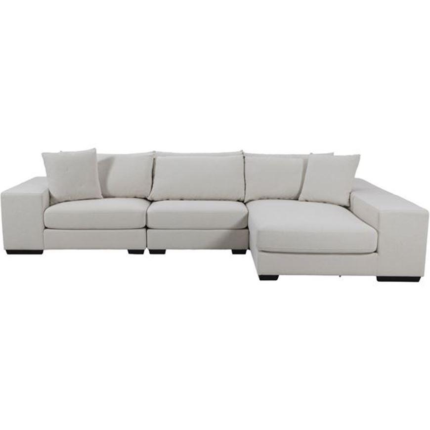 GUSTY corner sofa white