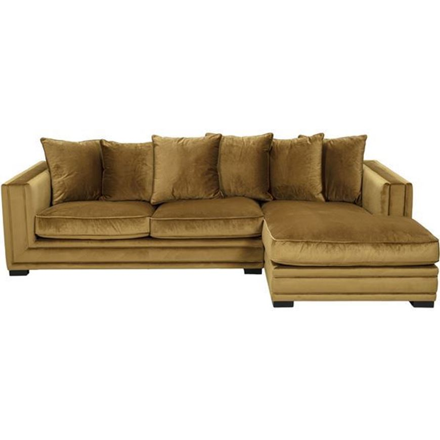KARL sofa 2.5 + chaise lounge Right brown
