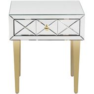 NIKI side table 51x42 clear/gold