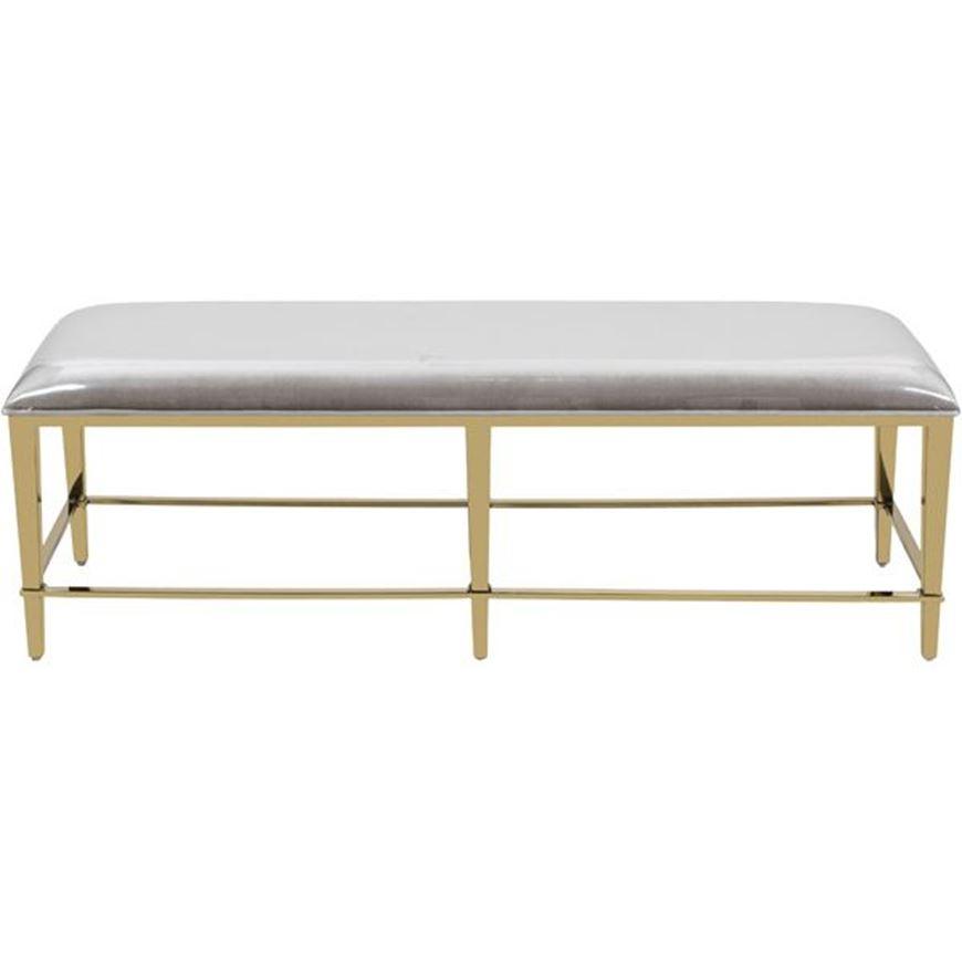 NIKI bench 140x45 taupe/gold