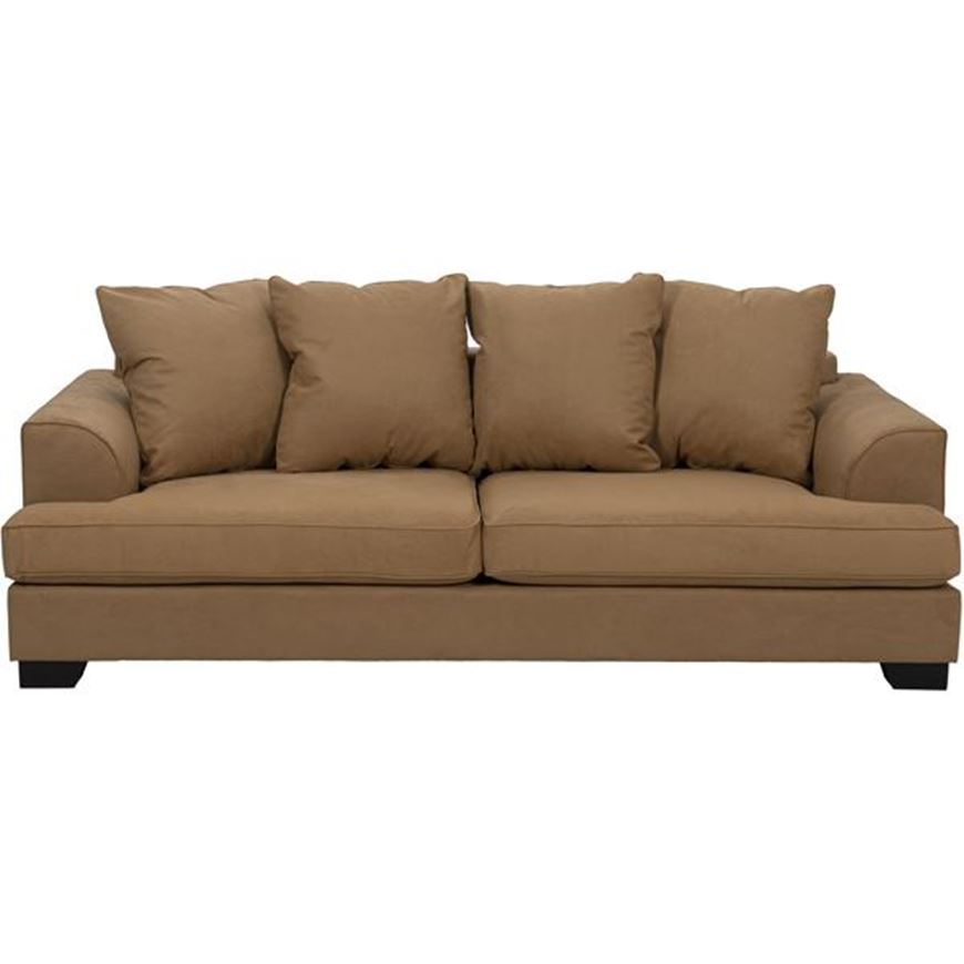 KINGSTON sofa 3.5 microfibre light brown