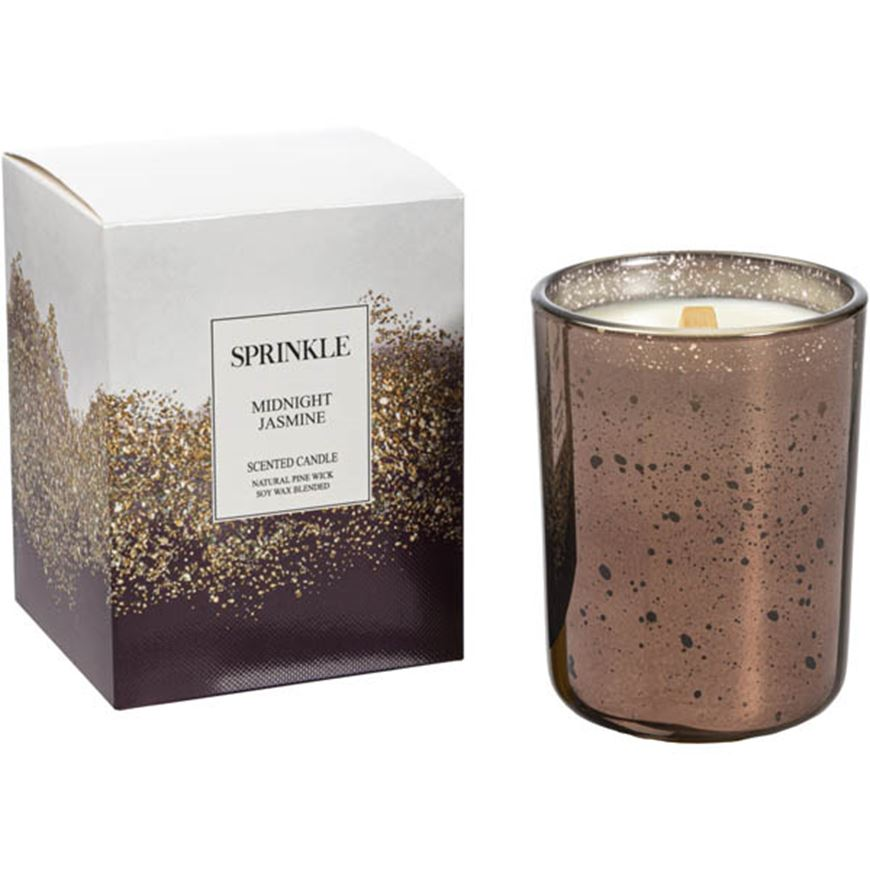 Picture of SPRINKLE Midnight Jasmine candle brown