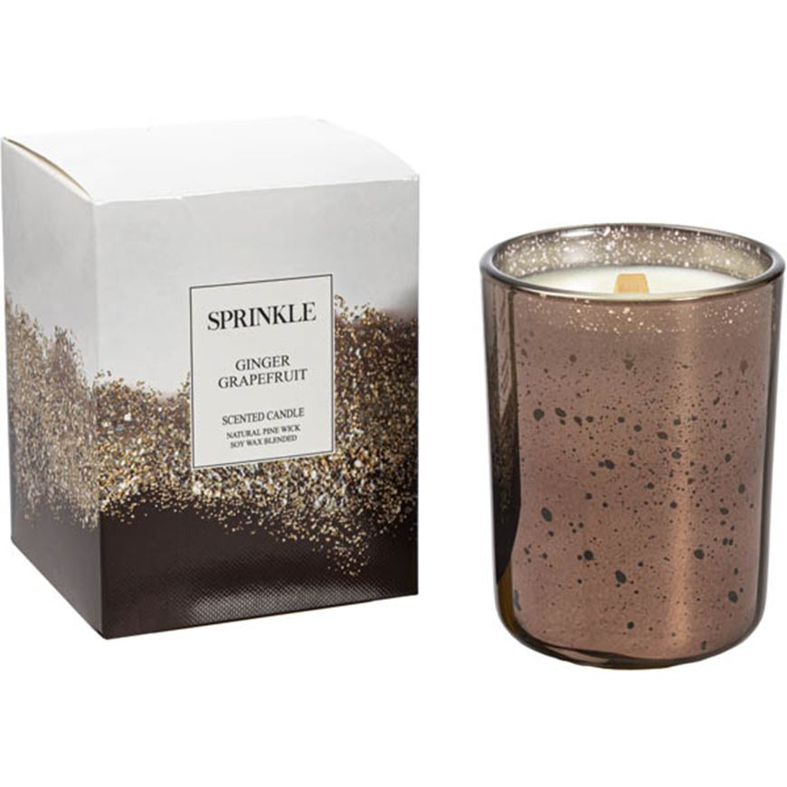 Picture of SPRINKLE Ginger Grapefruit candle brown