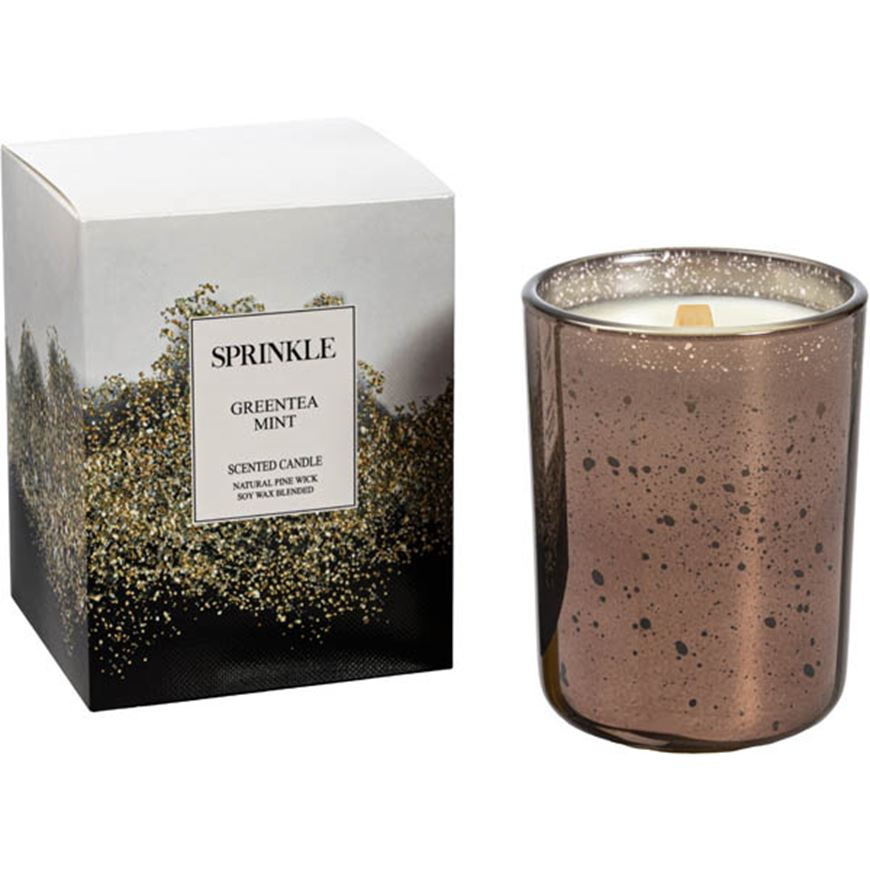 Picture of SPRINKLE Greentea Mint candle brown