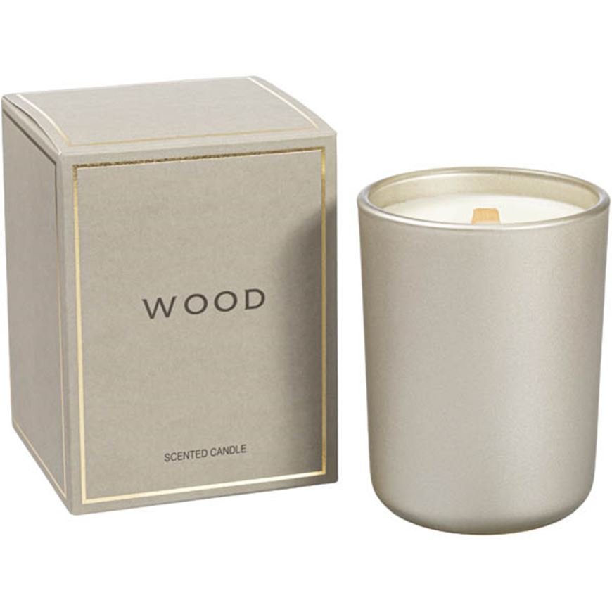 Picture of WOOD candle gold